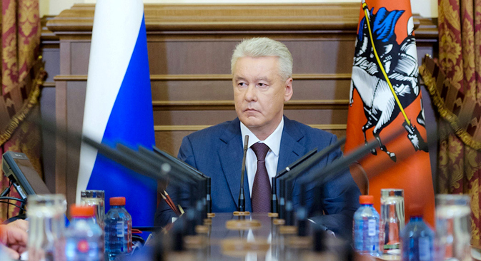 Sobyanin is the only candidate in the race that Muscovites can judge on his accomplishments rather than his promises. Source: RIA Novosti