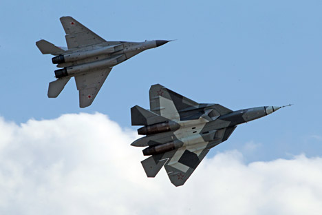Moscow engineers are designing a 6th generation fighter jet. Pictured: Russian fifth-generation fighter jet T-50.