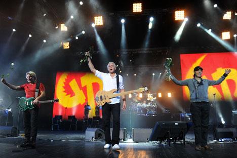 Die Glam-Rockband Gorky Park wurde 1987 in Moskau gegründet und komponierte ihre Lieder bereits zu Beginn auf Englisch, um sich im Westen etablieren zu können. Foto: ITAR-TASS