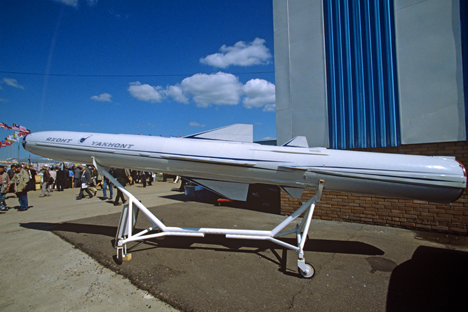 Yakhont anti-ship cruise missile at the 3rd International Airspace Show in Moscow. Source: RIA Novosti