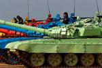 In Russia even tanks practice biathlon