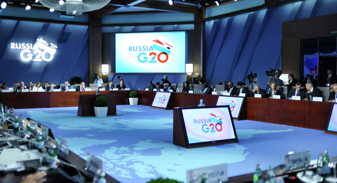 As the current Chair of the G20, Russia is focusing its attention on to the need to increase investment to spur a global recovery. Source: Press Photo