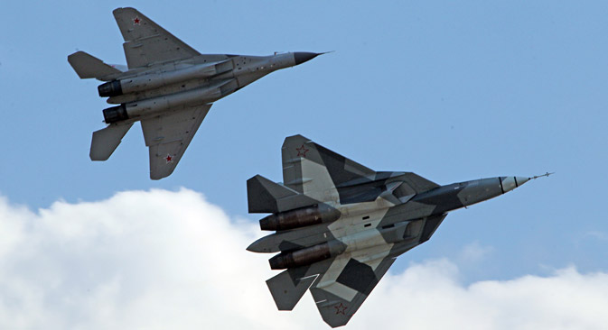 Moscow engineers are designing a 6th generation fighter jet. Pictured: Russian fifth-generation fighter jet T-50. Source: AP.
