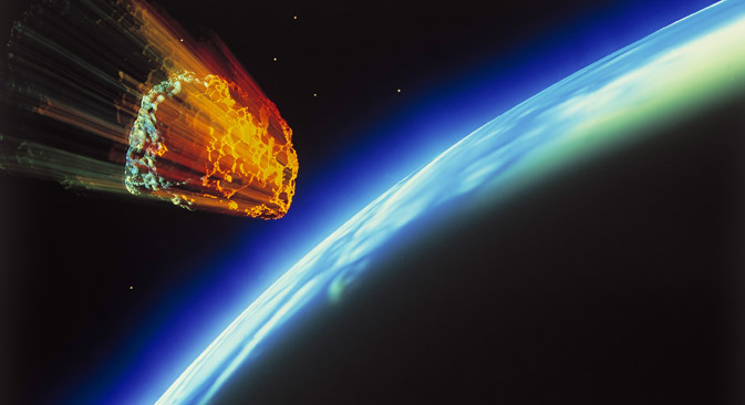 Russian experts believe that nuclear charges should be used to destroy dangerous asteroids. Source: Alamy / Legion Media