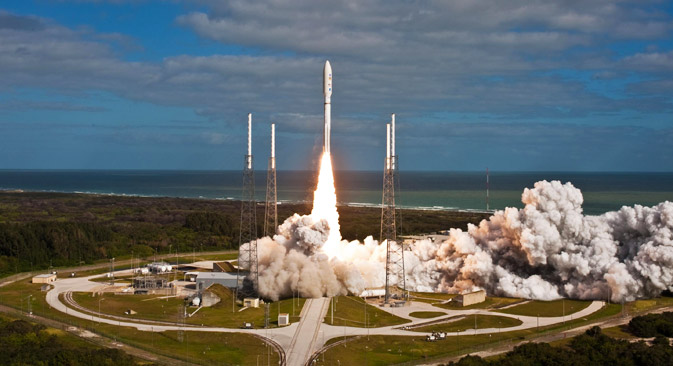 Atlas V rockets have used Russian RD-180 engines since 1996. Source: Press Photo / NASA