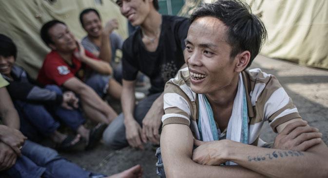 La majorité des Vietnamiens interpellés ne sont pas seulement des transgresseurs de la loi, mais surtout des victimes d'une exploitation illégale, c'est-à-dire, des esclaves. Crédit photo :  RIA Novosti