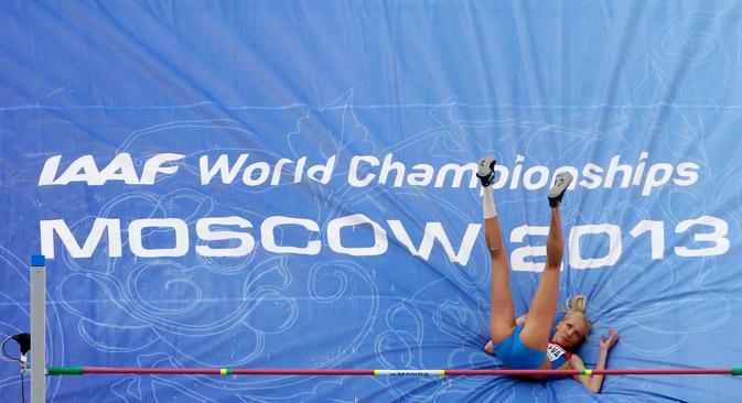Svetlana Shkolina won the gold medal in the high jump. Source: Reuters