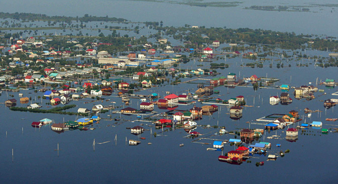 400,000 square miles of Russian Far East flooded. Source: RIA Novosti / Sergei Mamontov
