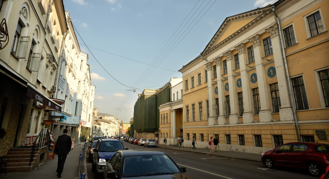 Bolshaya Nikitskaya Street, the site of the Moscow Conservatory where Pasternak entered in 1908 after finishing grammar school. Source: Elena Pochetova