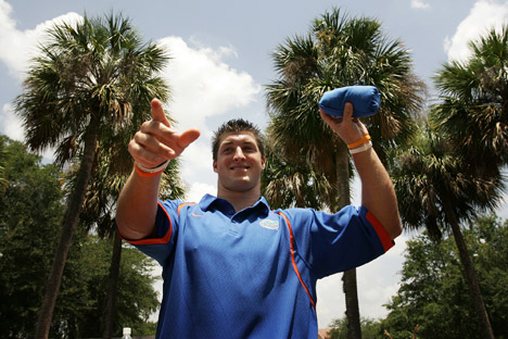Tebow may play several games in the Russian American Football Championships in Moscow. Source: AP