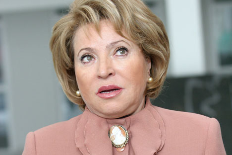 Upper House Speaker Valentina Matviyenko.