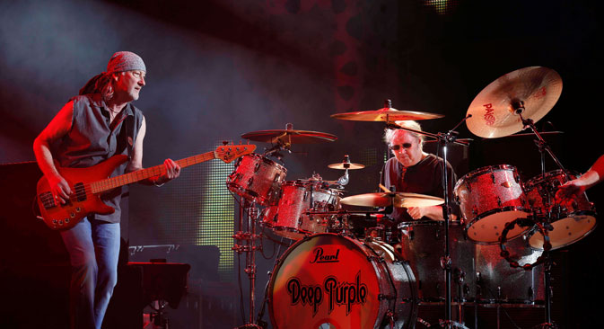 The legendary group Deep Purple will perform at one of the largest concert venues, the Olympic stadium on November 6. Source: Reuters / Vostock Photo
