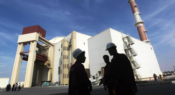 Buschehr ist das erste Kernkraftwerk im Nahen Osten und war das wohl bekannteste überfällige Bauprojekt in der Region.  Foto: Reuters