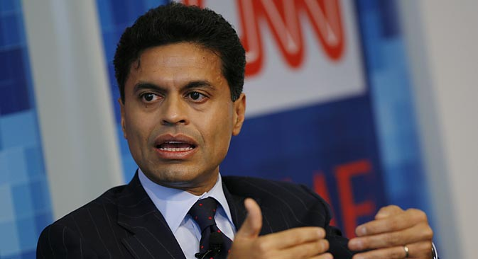 "Fareed Zakaria: ""I have to say that, from the evidence I have seen, I don't believe the rebels are using chemical weapons. I don't think they have the sophistication or the organisation to use them."" Source: Getty Images / Fotobank"