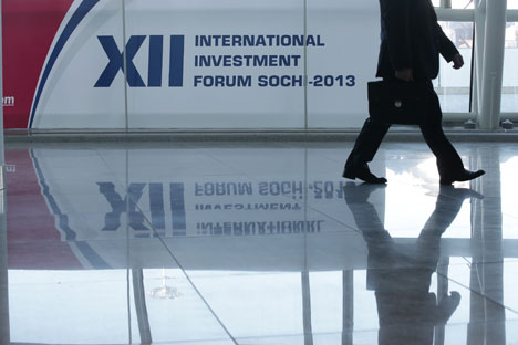 The 12th Sochi International Investment Forum takes place on Russia's Black Sea Coast. Source: ITAR-TASS