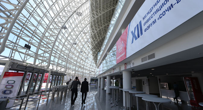 Sochi International Investment Forum is the premier platform for dialogue between big business and government in Russia's southern regions. Source: Sergei Fadeichev / ITAR-TASS