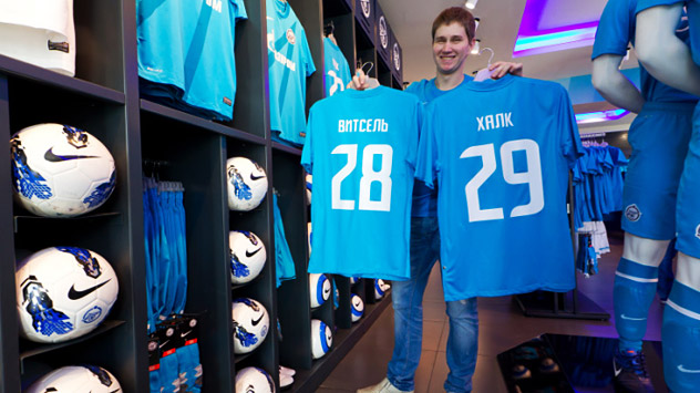 St. Petersburg's Zenit club earned $ 81 million in 2012—a decent enough sum, but the club was spending much more. Only the transfers of the Brazilian Hulk and the Belgian Axel Witsel amount to $131.1 million. Source: Press Photo