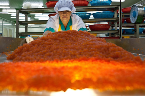 Each year, 11,000–13,000 tons of caviar are produced in Russia. Source: AP