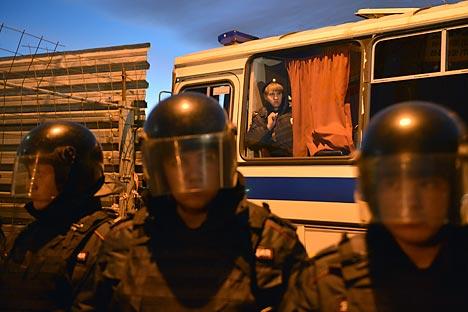 Batidas policiais são frequentes em regiões onde há concentração de imigrantes Foto: RIA Nóvosti