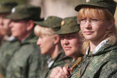More women choose career in Russian army. Source: ITAR-TASS