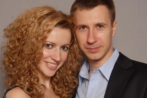 Alexei and Nadezhda Bochkarev, founders of the Internet service Looksima. Source: Press Photo
