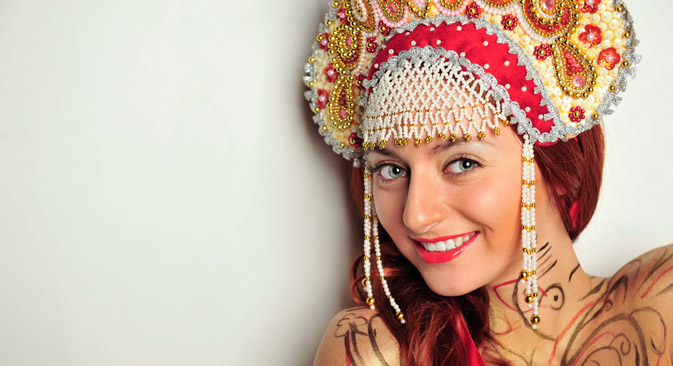 Want to surprise your friends with a Russian costume? Try the kokoshnik. Source: Alamy / Legion Media