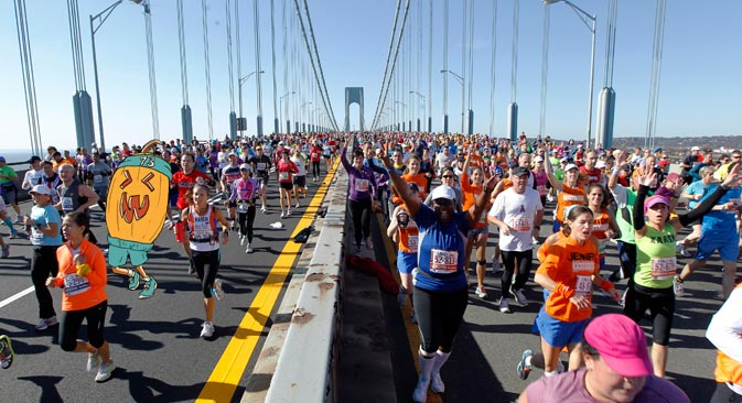 """The """"Road to Sochi–2014"""" starts in New York City on Oct.31. Source: Reuters / Сollage by Natalya Mikhailenko"""