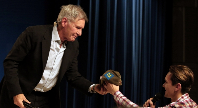 "Harrison Ford: ""I never judge my characters"". Source: ITAR-TASS"