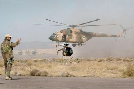 Os Mi-17 têm demanda em muitos países, incluindo países da Otan Foto: AP
