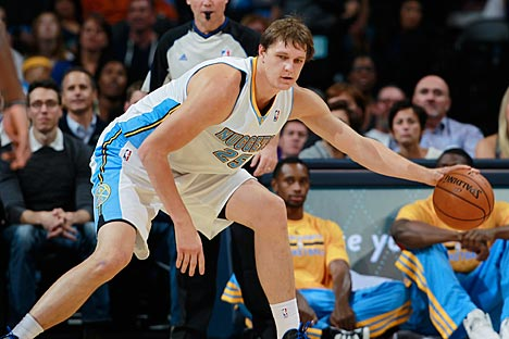 "Timofey Mozgov: ""I hope I can take advantage of the current circumstances."" Source: AP"