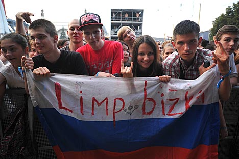 Limp Bizkit's fans in Russia. Source: Photoshot/Vostock-Photo