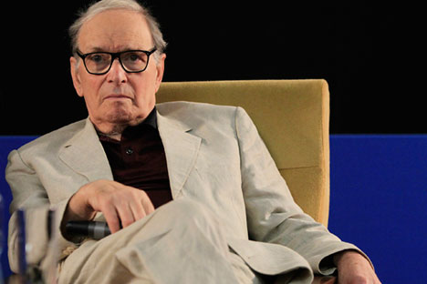 Italian composer Ennio Morricone is giving a concert at Moscow's Crocus City Hall on Nov.13. Source: ITAR-TASS