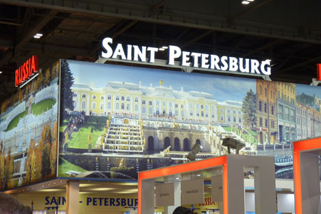 Оваа година претставници на околу 15 региони, меѓу кои и Санкт Петербург и Москва, ги претставија своите најнови понуди, хотели и топ-дестинации на рускиот штанд на изложбата World Travel Market. Извор: Татјана Рублева.