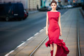 Street fashion in Russia: spike heels and minis