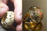 Hot enamel flowers in a jeweler's workshop