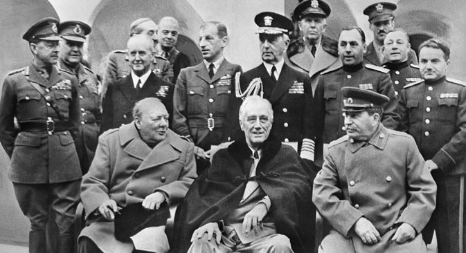 History soon revealed the re-establishment of diplomatic relations as a win-win situation for both countries. Franklin D. Roosevelt and Joseph Stalin at the Yalta conference in 1945. Source: ITAR-TASS