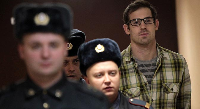A total of 23 Greenpeace activists have been released on bail so far. Pictured: Kieron Bryan. Source: ITAR-TASS