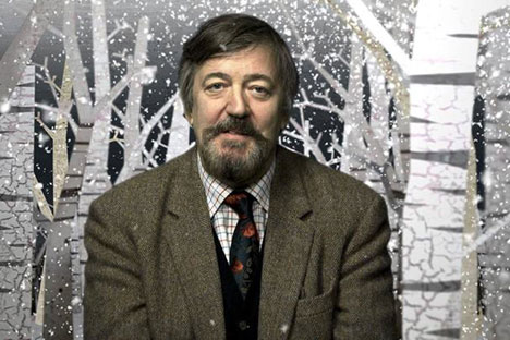 Stephen Fry speaks about Russian literature in his movie. Source: Press photo