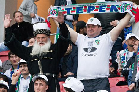 Chechen fans of Terek (Grozny). Source: Photoshot / Vostock / Photo