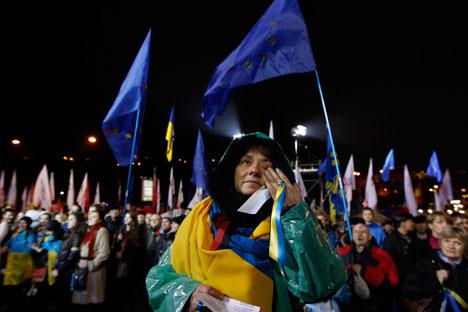 Decisão das autoridades ucranianas vem provocando ações de protesto em Kiev Foto: Reuters