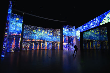 "A multimedia exhibition ""Van Gogh: Revived paintings"" will open in the ARTPLAY gallery. Source: Press Photo"