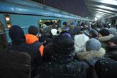 Taking precautions on Moscow's metro
