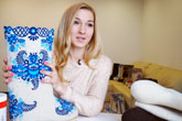 Designer valenki, fabulous boots of Russian Santa Claus
