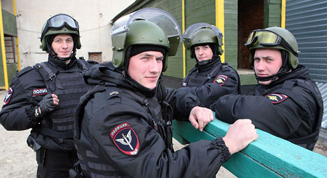 Rostov police said they believe twins working together on the force could be very beneficial for disorienting criminals. Source: RG