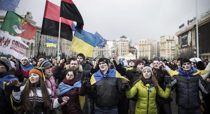 """""""Enquanto o 'Euromaidan' não se dispersar, a Rússia deve ser extremamente cuidadosa"""" Foto: AFP/East News"""