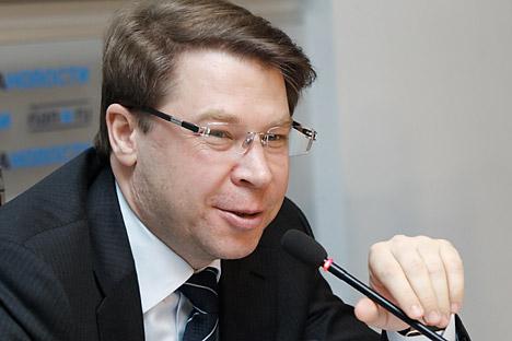GLONASS-Präsident Alexander Gurko: In Russland wurde die Zwei-Systeme-Navigation mithilfe von GLONASS/GPS als staatlicher Standard festgelegt. Foto: RIA Novosti