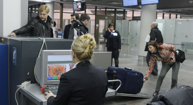 The ban was first communicated to passengers by the management of Vnukovo and Sheremetyevo airports. Source: Mikhail Mokrushin / RIA Novosti