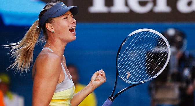 Sharapova won the game with America's Bethanie Mattek-Sands in the first round. Source: Reuters