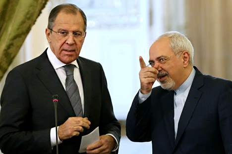 Sergei Lavrov (R) and Vladimir Voronkov (L). Source: AP