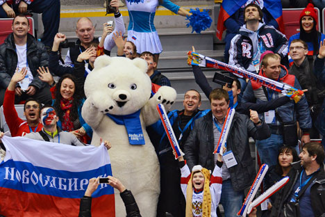 Sports fans in Russia do not count kilometers. Source: RIA Novosti / Alexey Kudenko